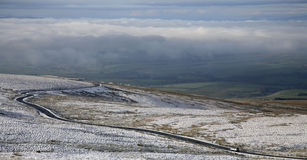Cumbria Winter-Straße Lizenzfreie Stockfotos