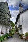 Cumbrian cottages. Cottages at Hawkshead, Cumbria, England Royalty Free Stock Photo