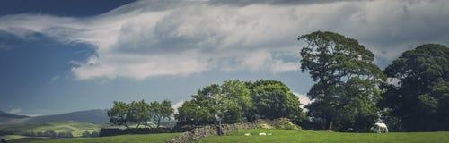 Cumbrian fält i sjöområdesnationalpark arkivfoton