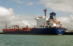 Cumbrian Fisher Oil Tanker, Portsmouth Arkivfoto