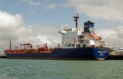 Cumbrian Fisher Oil Tanker, Portsmouth Arkivfoto