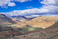 Cumbrian landscape. Looking towards the Langdales Cumbria England Stock Image