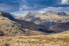 Cumbrian landscape. Looking towards the Langdales Cumbria England Royalty Free Stock Photography