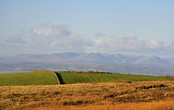 Cumbrian mountains from the Bowland moors Stock Photos
