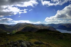 Cumbrian Mountains. From Hallin Fell Royalty Free Stock Photography