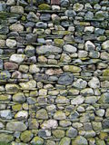 Cumbrian Stone Wall. The end of a Cumbrian barn wall found in the Langdale valley made of the local stone Royalty Free Stock Images
