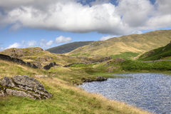 Cumbrian tarn. Alcock Tarn near Grasmere, the Lake District, Cumbria, England Royalty Free Stock Image