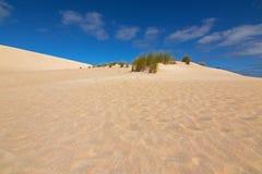 Cume alto do monte da areia de longe em pouca duna de areia branca de Sahara Fotografia de Stock Royalty Free