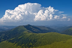 Cume superior da montanha Fotos de Stock
