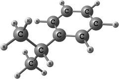Cumene molecule isolated on white Stock Images
