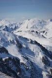 Cumes austríacos no inverno fotografia de stock royalty free