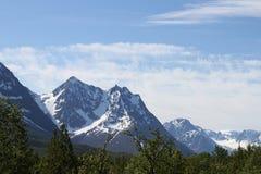 Cumes de Lyngen, Noruega Fotografia de Stock Royalty Free