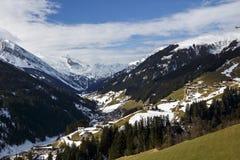 Cumes de Tuxer em Áustria, 2015 Imagem de Stock