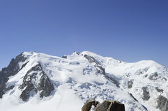 Cumes do Monte Branco chamonix franceses Imagens de Stock Royalty Free