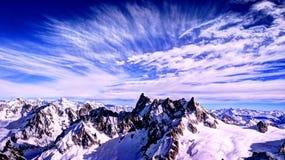 Cumes franceses Chamonix Mont Blanc Fotografia de Stock