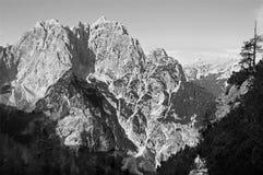 Cumes julianos - pico de Prisojnik fotografia de stock royalty free