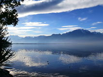 Cumes no lago Genebra em Montreux Imagem de Stock