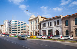 Cumhuriyet Blv, street view. Izmir city Stock Images