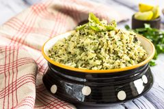 Cumin and Cilantro Flavored Rice royalty free stock images