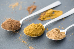 Cumin, coriander and nutmeg, good for osteoarthritis, joint pain Royalty Free Stock Photo