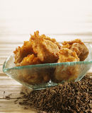 Cumin-flavored potato fritters Stock Photography