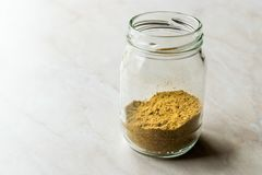 Cumin Powder in Jar Ready to Use. Organic Food Stock Images