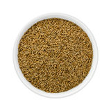 Cumin Seed in a Ceramic Bowl Stock Image