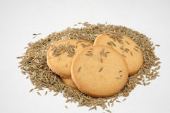 Cumin seeds biscuits Stock Images