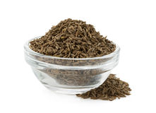 Cumin seeds in bowl Royalty Free Stock Image