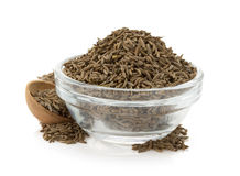 Cumin seeds in bowl Royalty Free Stock Photography