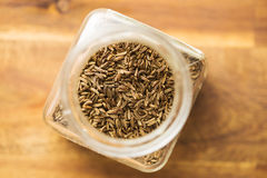 Cumin seeds or caraway. Cumin seeds or caraway in jar Stock Photography