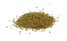 Cumin seeds. Isolated Royalty Free Stock Images
