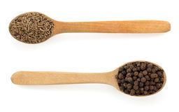 Cumin seeds in spoon Stock Photography