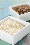Cumin and sesame seeds Stock Photography
