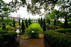 Cummer博物馆庭院在杰克逊维尔,佛罗里达 免版税库存图片