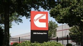 Cummings-Diesel-Generatoren lizenzfreies stockfoto