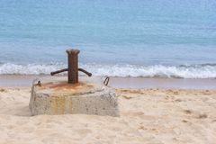Cumownica na plaży fotografia royalty free