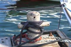Cumownica przy dokiem w Zdjęcia Stock