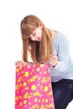 Cumpleaños, adolescente sorprendido Imagenes de archivo