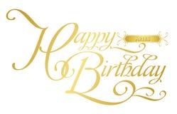 Cumpleaños-aries feliz ilustración del vector