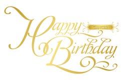 Cumpleaños-cáncer feliz Imágenes de archivo libres de regalías