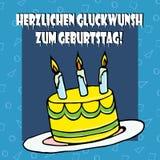 Cumpleaños cake2 del ejemplo Foto de archivo