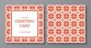 Cumpleaños, día de fiesta, saludo de la Navidad y plantilla de la tarjeta de la invitación Foto de archivo libre de regalías