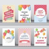 Cumpleaños, día de fiesta, saludo de la Navidad y tarjeta de la invitación Imágenes de archivo libres de regalías