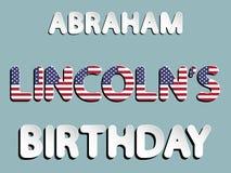 Cumpleaños de Abraham Lincoln Fotografía de archivo