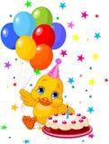 Cumpleaños de Duckling?s Imágenes de archivo libres de regalías