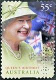 Cumpleaños de la reina Elizabeth II Foto de archivo libre de regalías