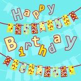 ¡Cumpleaños de las postales con los indicadores! Fotos de archivo
