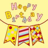 Cumpleaños de las postales con tres indicadores Imagen de archivo