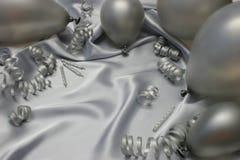 Cumpleaños de plata Imagen de archivo libre de regalías